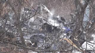 На месте крушения вертолета в Хабаровске продолжаются следственные действия