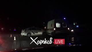 ДТП Харьков, полиция врезалась в скорую помощь 12.08.18