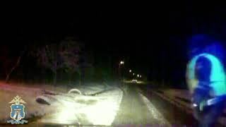 Пьяный водитель без прав пытался спастись бегством (видео)