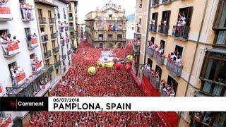 Фестиваль Сан-Фермин в испанской Памплоне