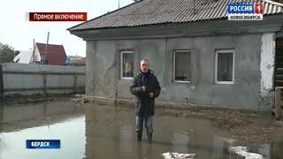 Потоп в частном секторе Бердска: водой затопило дворы и огороды жилых домов