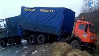 Под Окуловкой из-за гололеда в аварии погиб водитель «ГАЗа»
