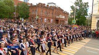 5 тысяч выпускников в Уфе вышли на «Весенний бал - 2018»