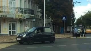 В Ставрополе водитель-нарушитель «накуролесил» на улице Дзержинского
