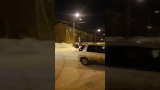 Легковушка врезалась в столб в Дальнем
