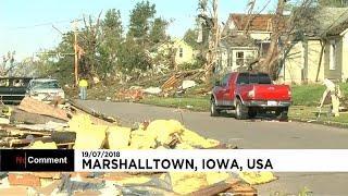 На Айову обрушился мощный торнадо