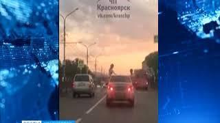 Полуголые девушки катались по Красноярску, высунувшись из окон машины
