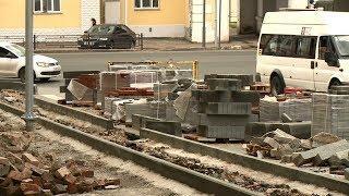 Ремонт тротуара на улице Кирова в Пензе намерены завершить к середине августа