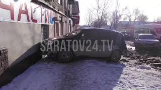 В Саратове в магазин Автозапчасти влетела иномарка