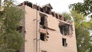 Жители взорвавшегося дома на улице Крупской обеспокоены темпом ремонтных работ