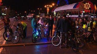 Накануне Дня города прошел и традиционный ночной велопробег.