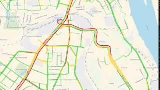 Утром многокилометровая пробка парализовала движение на Московском проспекте в Ярославле