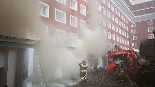 Горящий в центре Ставрополя ресторан потушен
