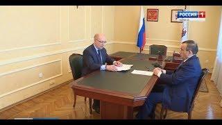 Александр Евстифеев провел встречу с куратором проведения Года добровольца Михаилом Васютиным