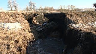 На ремонт провалившейся дороги в Иссинском районе потребуется полтора месяца и 1 млн. рублей