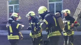Пожар на станции эстреннойй помощи.Трое пострадавших