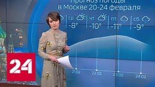 """""""Погода 24"""": Центральную Россию охватят сибирские морозы - Россия 24"""