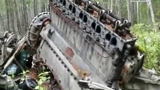 Эвакуация частей самолета Ли-2