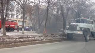 24.01.2018 В Оренбурге на Салмышской горит авто