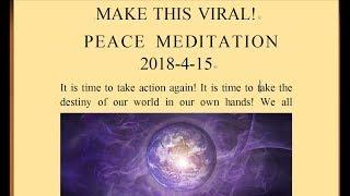 Event Times Around the World  PEACE MEDITATION 2018-4-15