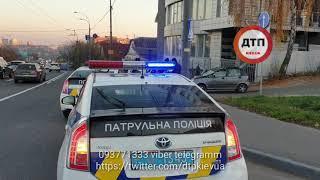 Пьяное дтп с опрокидыванием в Киеве на Лобановского: водитель Деу Матиз под наркотой вылетел с дорог