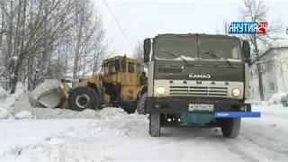 Алданский район сильно страдает от обилия снега