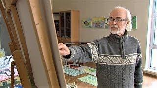 Югорский художник Геннадий Райшев показал, как рисует музыку
