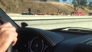 Horrific accident! I-15 northbound Norco CA part 1
