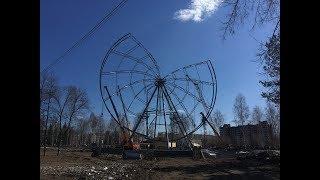 В Башкирии начало рушиться недостроенное колесо обозрения