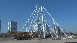 В Волгограде монтируют «корону» нового колеса обозрения