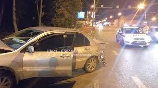 Тройное ДТП на окружной дороге в Ярославле
