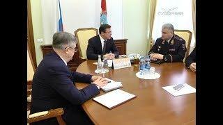 Дмитрий Азаров провел встречу с главой Госавтоинспекции России Михаилом Черниковым