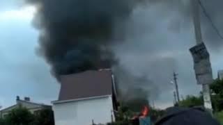 На хуторе под Краснодаром загорелся трансформатор