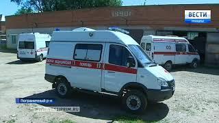 Новый реанимобиль «Соболь» испытывают специалисты скорой помощи в поселке Пограничный