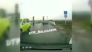 Странное ДТП на бочкаревском мосту