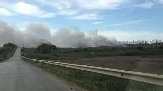 В Мясниковском районе загорелась свалка