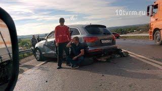 Пьяный водитель Ауди, устроивший аварию, пытался подкупить инспектора ДПС?