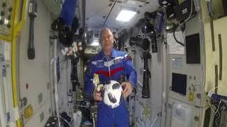 Космонавт Олег Артемьев с борта МКС пожелал футболистам побед на чемпионате мира