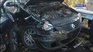 В Костроме на улице Калиновской столкнулись грузовик и две легковушки