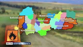 Пять природных возгораний зафиксировано в Вологодской области