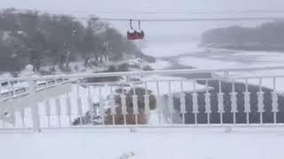 Иномарка провалилась под лёд в Оренбурге