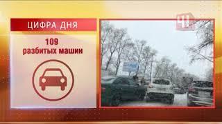 Екатеринбург засыпало снегом