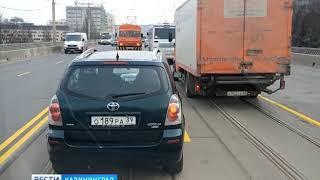 Движение по эстакадному мосту ограничат в сторону центра Калининграда