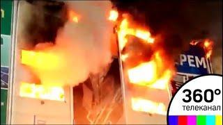 Эксперты выясняют причины крупного пожара в Химках