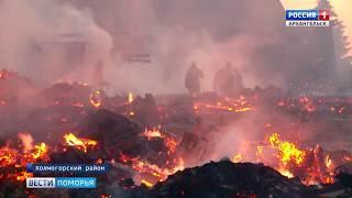 Пожар уничтожил три частных дома в Холмогорском районе