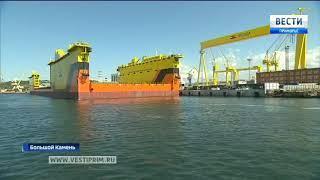 Владимир Путин принял участие в церемонии закладки танкера типа «Афрамакс» на заводе «Звезда»