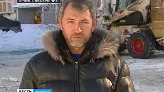 Снег из Иркутска вывозят тоннами. Чистят не только дворы, но и крыши и козырьки подъездов