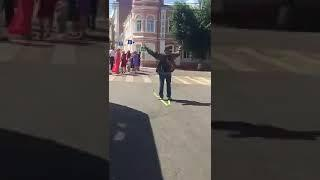 Лыжник гулял по Воронежу в августе