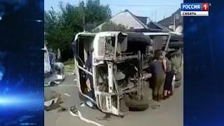 Десять человек пострадали в ДТП с участием двух автобусов в Хакасии