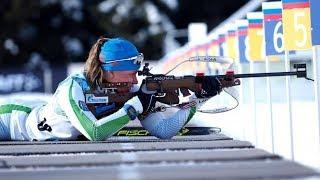 Югорские биатлонистки стали лучшими в спринте на этапе Кубка России